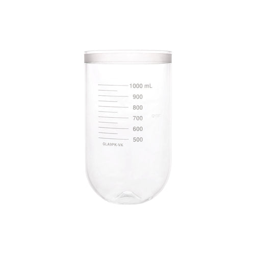 1000mL Clear Glass PEAK Vessel, No Collar, Agilent/ VanKel TruCenter/V-Series compatible