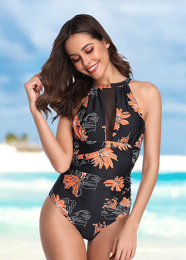 Printed One Piece Swimwear