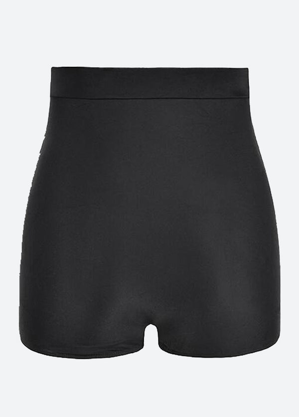 Solid Color High Waist Swim Skirt