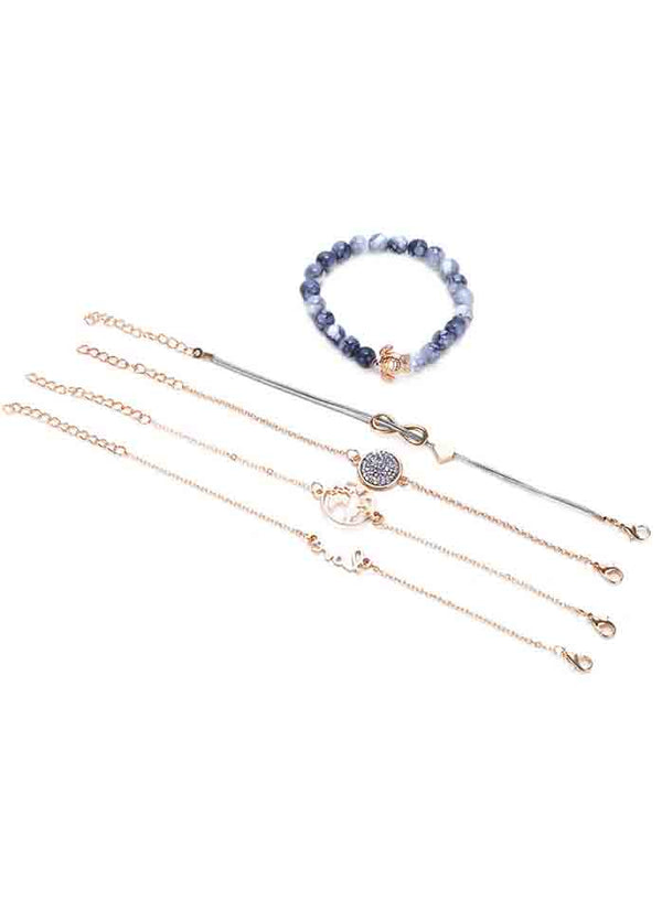 Five-Piece Diamond Bracelet