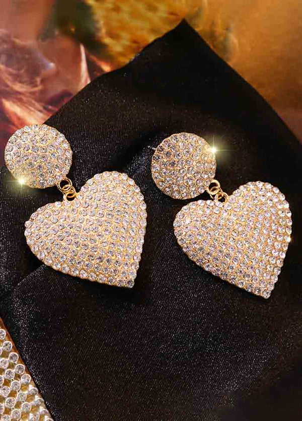 Luxury Peach Heart Earrings