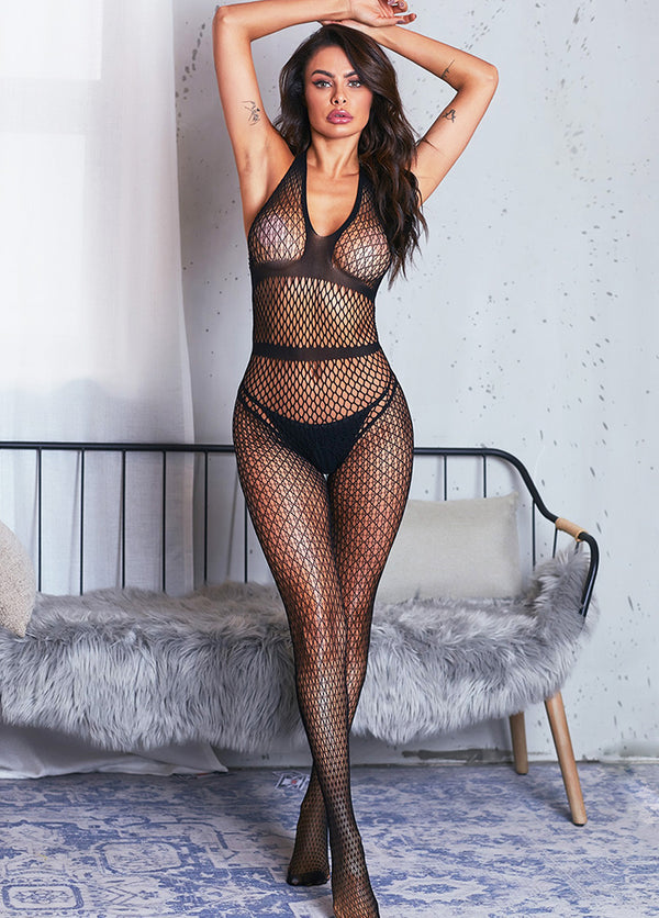 Sexy Backless Netted Bodystocking