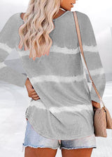 Long Sleeve Casual Striped T-shirt
