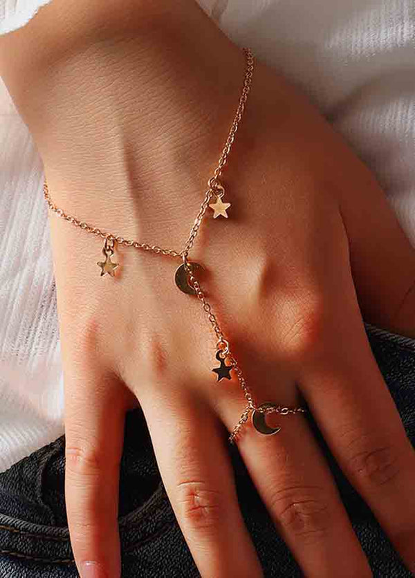 Simple Double Finger Star Bracelet