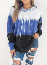 Gradient Hat collar Long Sleeve Hoodie