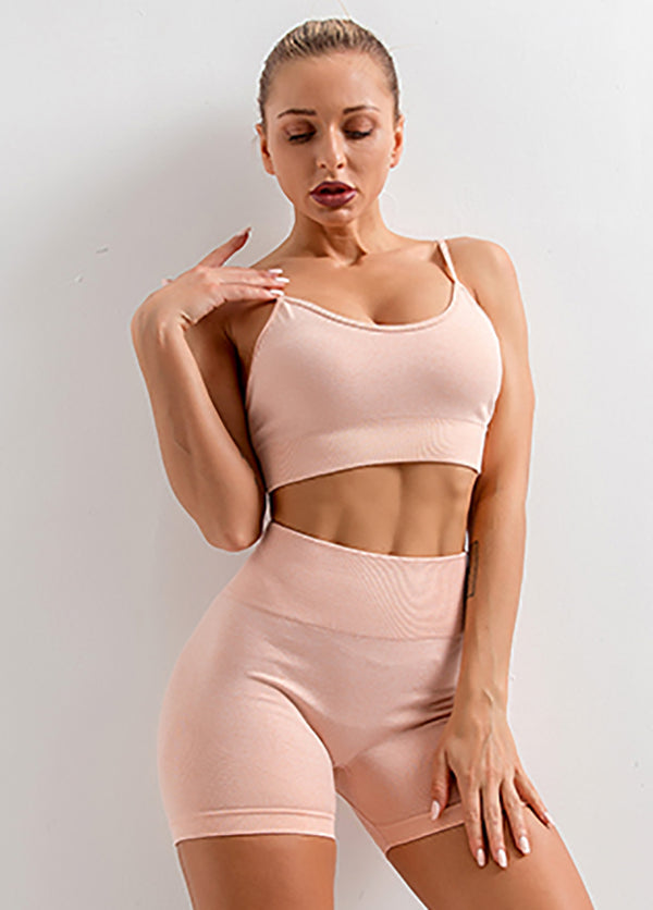 Solid Color Yoga Suit
