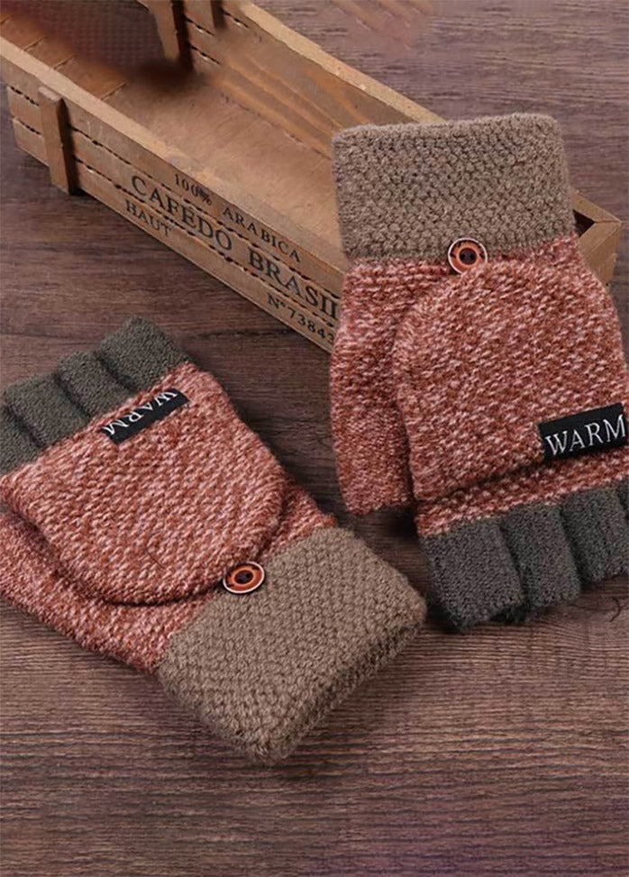 Patchwork Warm Pattern Gloves