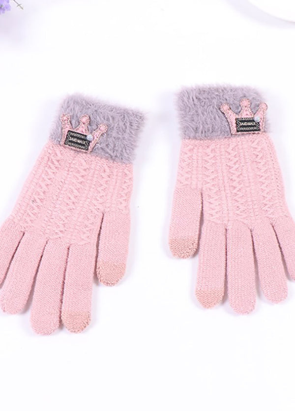 Cartoon Pattern Patchwork Gloves