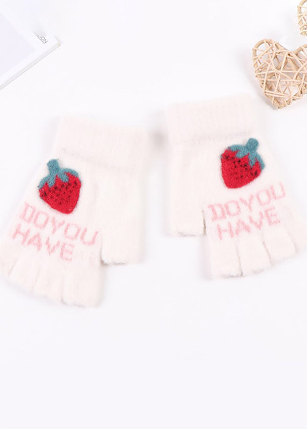 Strawberry Pattern Gloves