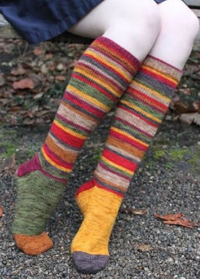 Multicolor Striped Socks