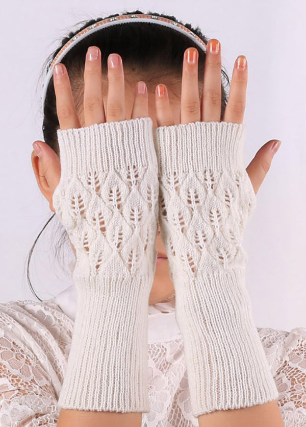 Solid Color Knitted Gloves
