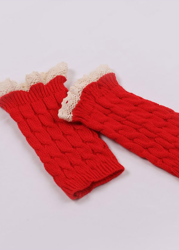 Lace Knitted Gloves