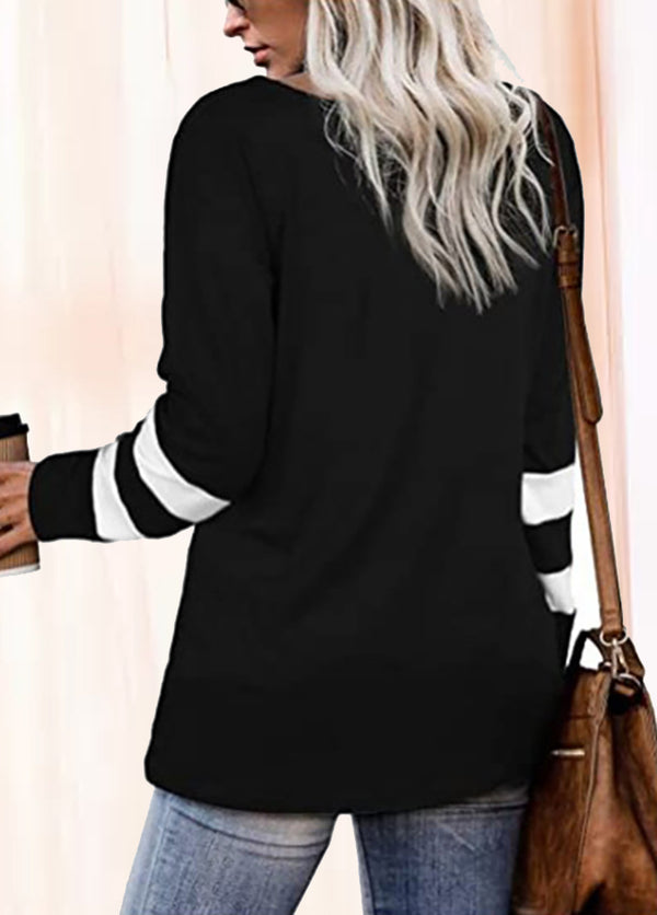 Knot Long Sleeve Round Neck Shirt