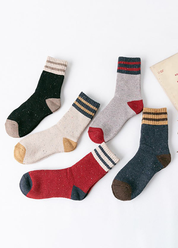 Striped Women's  Socks 5 Pack