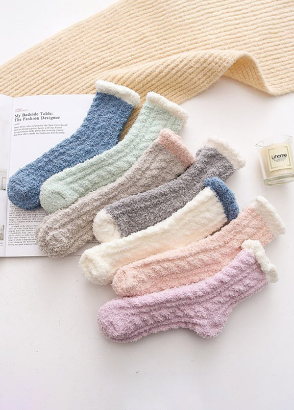 5 Pairs Plus Cashmere Women's Socks