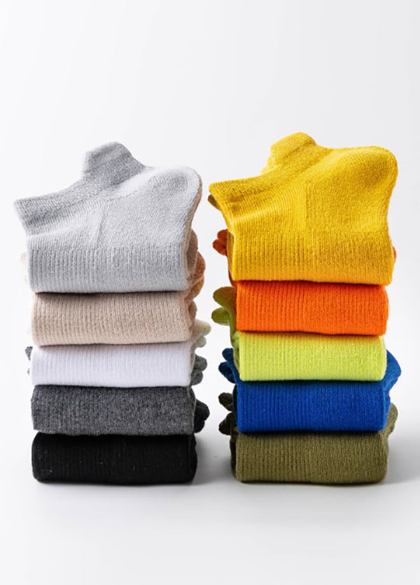 5 Pairs Solid Color Low Cut Women's Socks