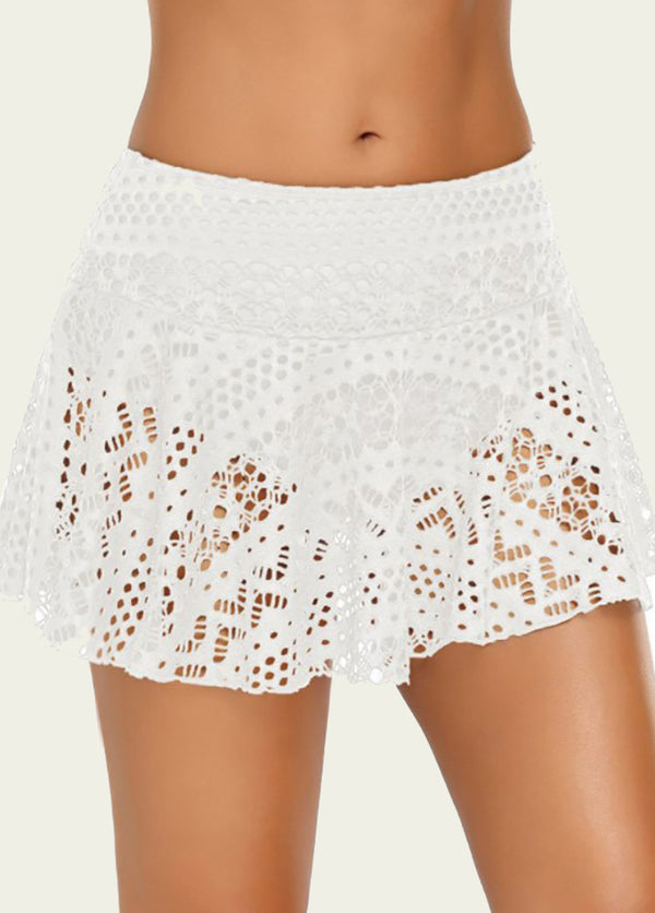 Lace High Waist Swim Shorts
