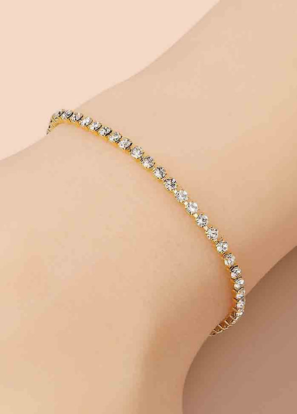 Full Diamond Single Row Bracelet