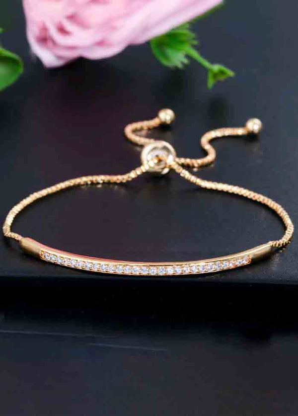 Single Row Curved Bracelet