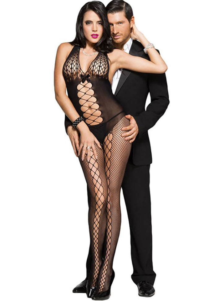 Holes Hollow Out Fishnet Bodystocking