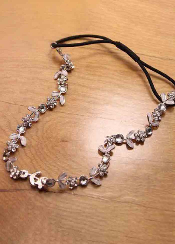 Small Flower Rhinestone Headband
