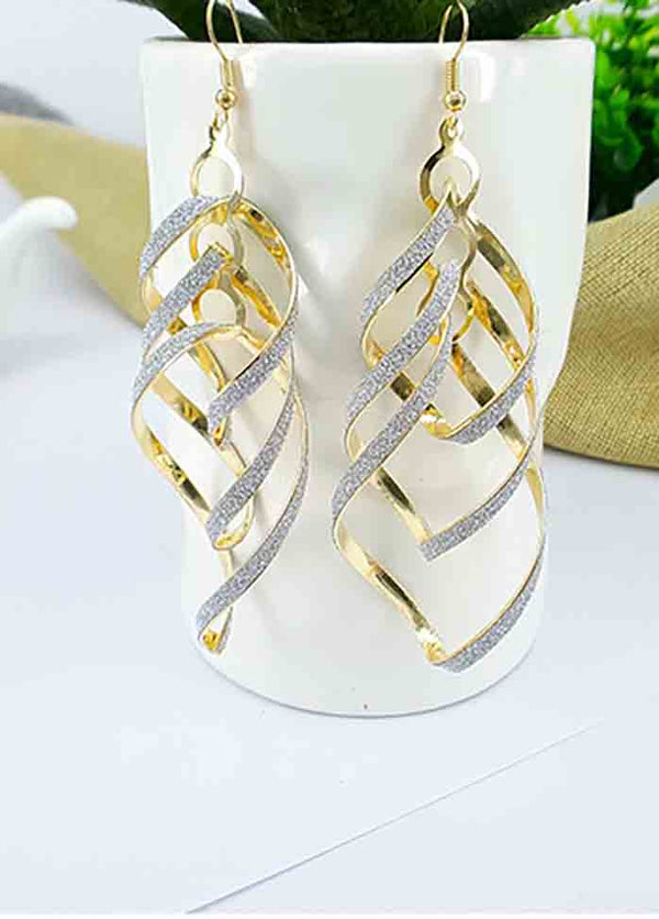 Alloy Multi-Layer Spiral Earrings