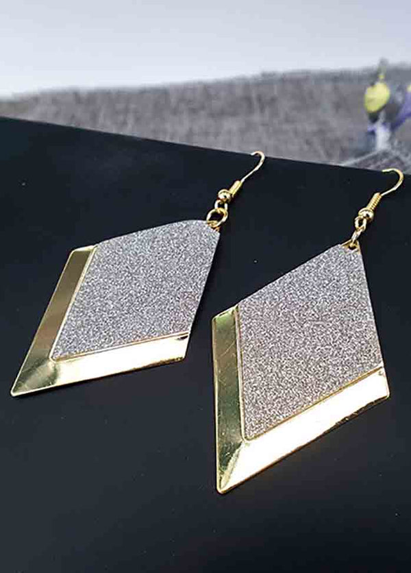 Diamond Frosted Geometric Earrings