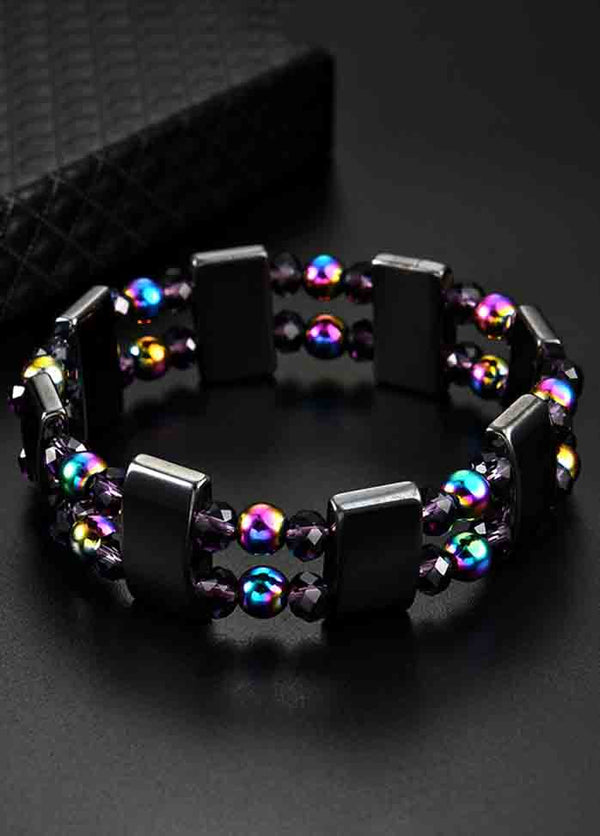 Double Layer Black Magnet Colorful Bracelet