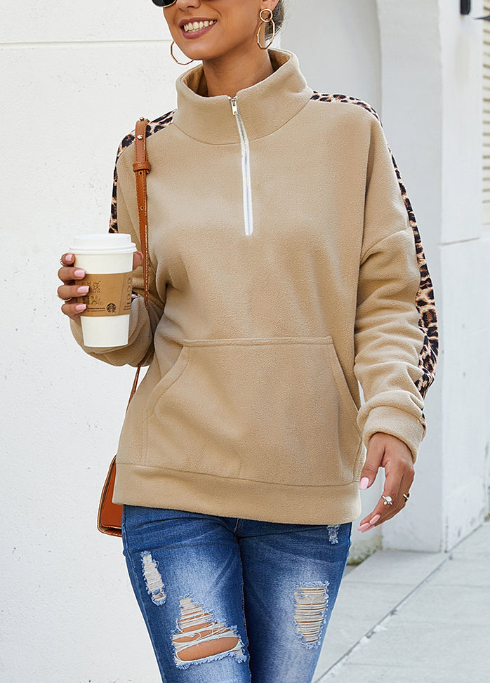Long Sleeve Round Neck Patchwork Top