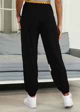 Casual Patchwork High Waist Long Pant