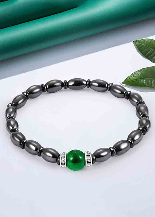 Green Cat Eye Micro-Elastic Bracelet