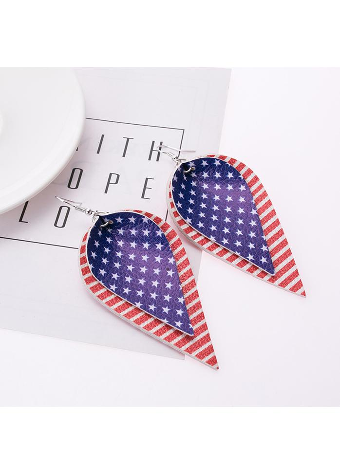 Cute American Flag Creativity Earrings