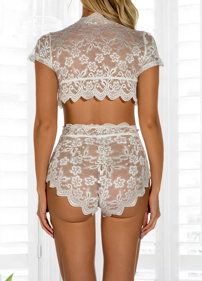 Solid Color Lace Sexy Pyjamas