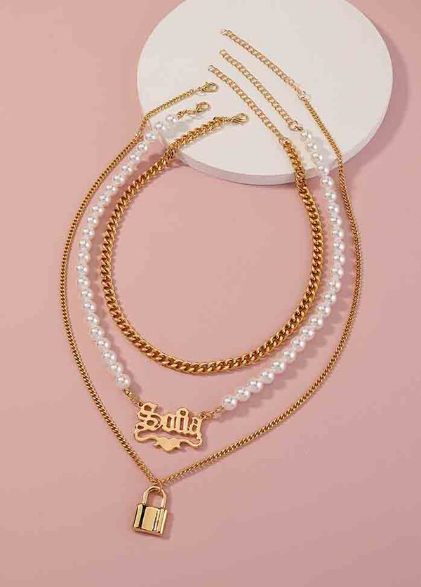 Alphabet Pearl Necklace