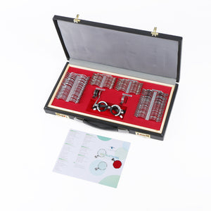 158 pcs Trial Lens Set Glass Grade A PU Case