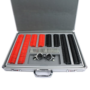 266 pcs Optical Trial Lens Set Plastic Rim Optometry Kit Case