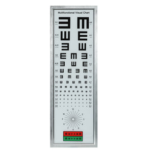 Standard Logarithmic Visual Acuity Chart LED Light Box Vision Astigmatism Chart