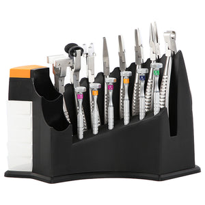 Eyeglass Repair Tools Pliers Screwdriver 14 pcs Set with Plastic Holder