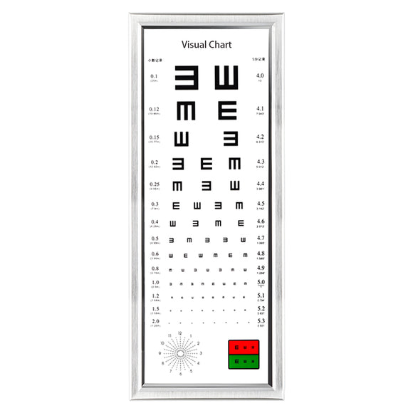 2.5M 98 inch Logarithmic Visual Acuity Chart LED Light Box Vision Astigmatism Chart