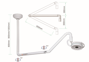 Ceiling Shadowless Light Medical Exam Lamp 360 Rotation 36W LED
