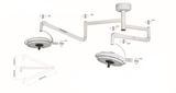 Two Headed Ceiling LED Surgical Exam Light Shadowless Lamp 108 W CE