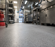 Why are resin floors the best choice for commercial kitchens?