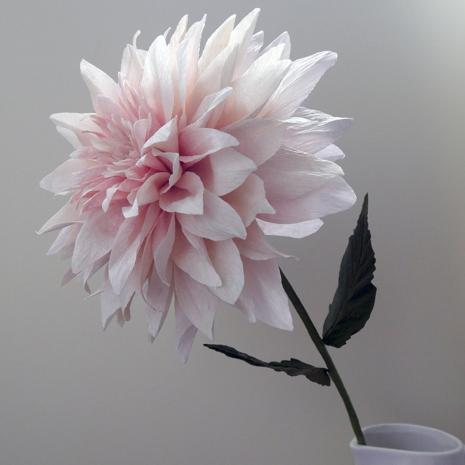 Dinner Plate Dahlia Flower from Italian Crepe Paper