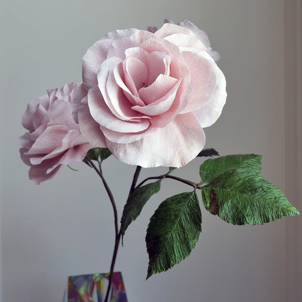 Floribunda Rose Flower from Crepe Paper