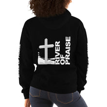 Load image into Gallery viewer, Black & White - River of Praise Hoodie (BLACK)