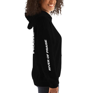 Black & White - River of Praise Hoodie (BLACK)