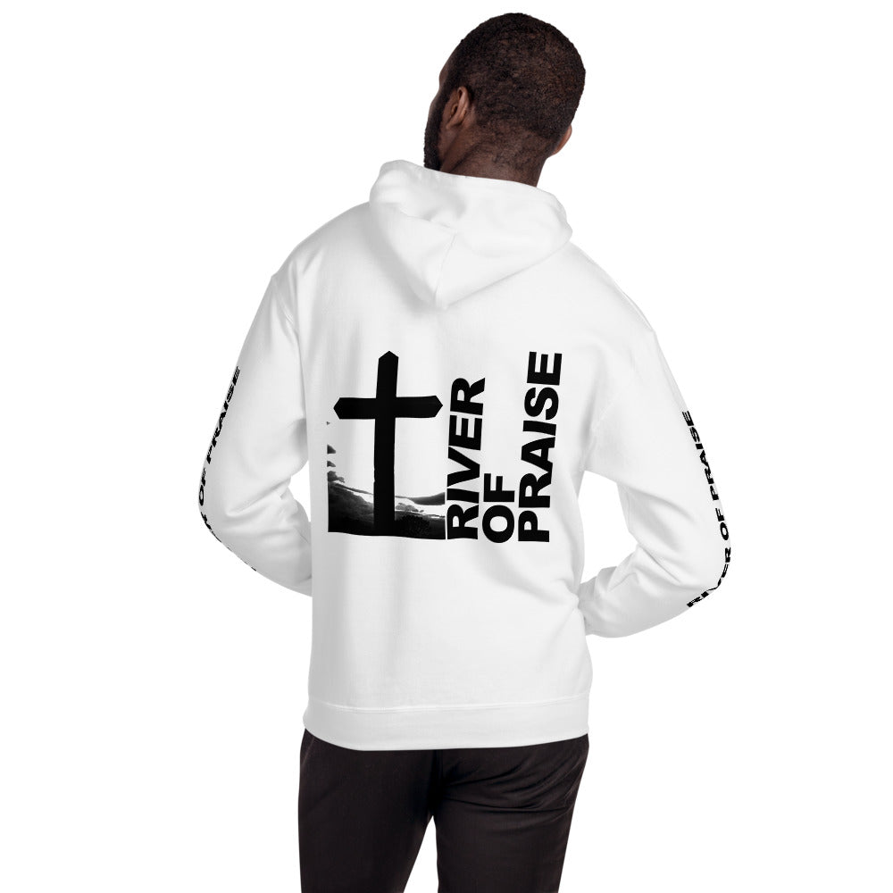 Black & White - River of Praise Hoodie (White)