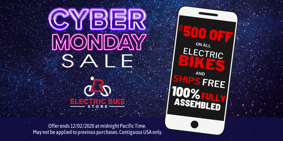$500 Off on ALL Electric Bikes and Ships FREE 100% Fully Assembled