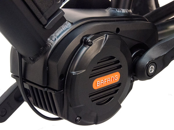 The Bafang mid-drive motor delivers an impressive 160N-m of torque.