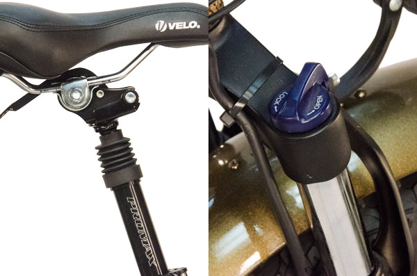 The Mozo front suspension fork smoothes that bumps out as well does the Promax suspension seatpost